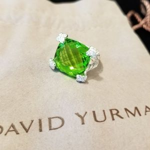 💎DAVID YURMAN Peridot & Diamonds